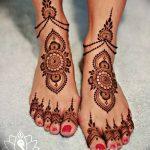 Фото Мехенди на голени от 17.09.2018 №001 - Mehendi on the lower leg - tatufoto.com