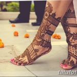Фото Мехенди на голени от 17.09.2018 №006 - Mehendi on the lower leg - tatufoto.com