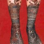 Фото Мехенди на голени от 17.09.2018 №008 - Mehendi on the lower leg - tatufoto.com