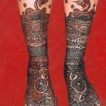 Фото Мехенди на голени от 17.09.2018 №011 - Mehendi on the lower leg - tatufoto.com