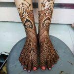 Фото Мехенди на голени от 17.09.2018 №013 - Mehendi on the lower leg - tatufoto.com