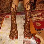 Фото Мехенди на голени от 17.09.2018 №018 - Mehendi on the lower leg - tatufoto.com