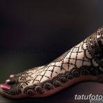 Фото Мехенди на голени от 17.09.2018 №030 - Mehendi on the lower leg - tatufoto.com