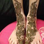 Фото Мехенди на голени от 17.09.2018 №032 - Mehendi on the lower leg - tatufoto.com
