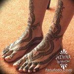Фото Мехенди на голени от 17.09.2018 №035 - Mehendi on the lower leg - tatufoto.com