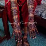 Фото Мехенди на голени от 17.09.2018 №037 - Mehendi on the lower leg - tatufoto.com