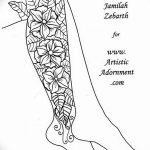 Фото Мехенди на голени от 17.09.2018 №041 - Mehendi on the lower leg - tatufoto.com