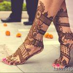 Фото Мехенди на голени от 17.09.2018 №042 - Mehendi on the lower leg - tatufoto.com