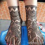 Фото Мехенди на голени от 17.09.2018 №043 - Mehendi on the lower leg - tatufoto.com