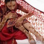 Фото Мехенди на голени от 17.09.2018 №044 - Mehendi on the lower leg - tatufoto.com