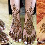 Фото Мехенди на голени от 17.09.2018 №048 - Mehendi on the lower leg - tatufoto.com