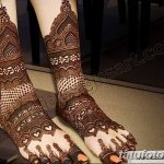 Фото Мехенди на голени от 17.09.2018 №062 - Mehendi on the lower leg - tatufoto.com