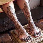 Фото Мехенди на голени от 17.09.2018 №084 - Mehendi on the lower leg - tatufoto.com