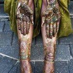 Фото Мехенди на голени от 17.09.2018 №085 - Mehendi on the lower leg - tatufoto.com