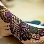 Фото Мехенди на голени от 17.09.2018 №086 - Mehendi on the lower leg - tatufoto.com