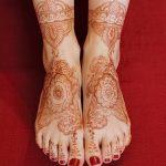 Фото Мехенди на голени от 17.09.2018 №092 - Mehendi on the lower leg - tatufoto.com