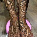 Фото Мехенди на голени от 17.09.2018 №109 - Mehendi on the lower leg - tatufoto.com