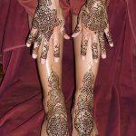 Фото Мехенди на голени от 17.09.2018 №116 - Mehendi on the lower leg - tatufoto.com