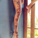 Фото Мехенди на голени от 17.09.2018 №119 - Mehendi on the lower leg - tatufoto.com