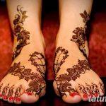 Фото Мехенди на голени от 17.09.2018 №124 - Mehendi on the lower leg - tatufoto.com