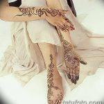 Фото Мехенди на голени от 17.09.2018 №125 - Mehendi on the lower leg - tatufoto.com