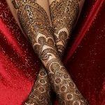 Фото Мехенди на голени от 17.09.2018 №133 - Mehendi on the lower leg - tatufoto.com