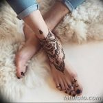 Фото Мехенди на голени от 17.09.2018 №140 - Mehendi on the lower leg - tatufoto.com