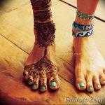 Фото Мехенди на голени от 17.09.2018 №142 - Mehendi on the lower leg - tatufoto.com