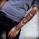 Фото Мехенди на запястье от 12.09.2018 №060 - Mehendi on the wrist - tatufoto.com