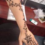 Фото Мехенди на запястье от 12.09.2018 №061 - Mehendi on the wrist - tatufoto.com