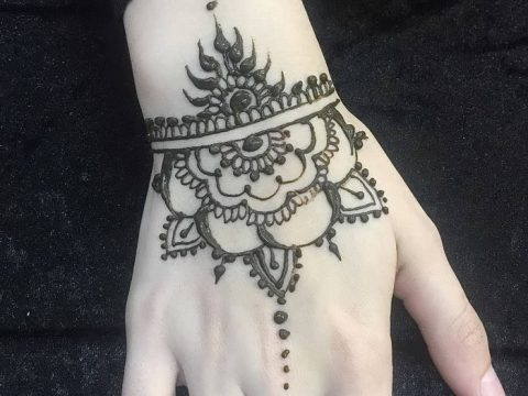 Фото Мехенди на запястье от 12.09.2018 №088 - Mehendi on the wrist - tatufoto.com
