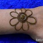 Фото Мехенди на запястье от 12.09.2018 №102 - Mehendi on the wrist - tatufoto.com
