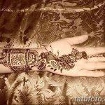 Фото Мехенди на запястье от 12.09.2018 №104 - Mehendi on the wrist - tatufoto.com