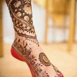 Фото Мехенди на ступне (рисунки хной) от 08.09.2018 №003 - Mehendi foot - tatufoto.com