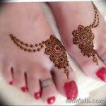 Фото Мехенди на ступне (рисунки хной) от 08.09.2018 №007 - Mehendi foot - tatufoto.com