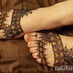 Фото Мехенди на ступне (рисунки хной) от 08.09.2018 №009 - Mehendi foot - tatufoto.com