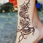 Фото Мехенди на ступне (рисунки хной) от 08.09.2018 №013 - Mehendi foot - tatufoto.com