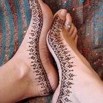 Фото Мехенди на ступне (рисунки хной) от 08.09.2018 №019 - Mehendi foot - tatufoto.com