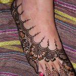 Фото Мехенди на ступне (рисунки хной) от 08.09.2018 №021 - Mehendi foot - tatufoto.com