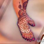 Фото Мехенди на ступне (рисунки хной) от 08.09.2018 №025 - Mehendi foot - tatufoto.com