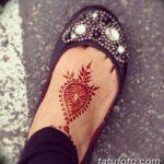 Фото Мехенди на ступне (рисунки хной) от 08.09.2018 №035 - Mehendi foot - tatufoto.com