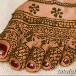 Фото Мехенди на ступне (рисунки хной) от 08.09.2018 №039 - Mehendi foot - tatufoto.com