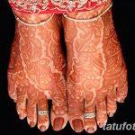 Фото Мехенди на ступне (рисунки хной) от 08.09.2018 №041 - Mehendi foot - tatufoto.com