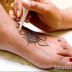 Фото Мехенди на ступне (рисунки хной) от 08.09.2018 №049 - Mehendi foot - tatufoto.com