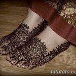 Фото Мехенди на ступне (рисунки хной) от 08.09.2018 №050 - Mehendi foot - tatufoto.com