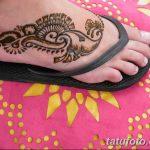 Фото Мехенди на ступне (рисунки хной) от 08.09.2018 №055 - Mehendi foot - tatufoto.com