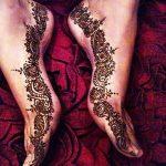 Фото Мехенди на ступне (рисунки хной) от 08.09.2018 №060 - Mehendi foot - tatufoto.com