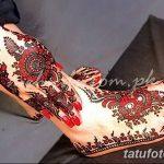 Фото Мехенди на ступне (рисунки хной) от 08.09.2018 №071 - Mehendi foot - tatufoto.com