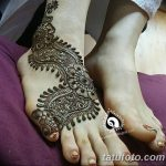 Фото Мехенди на ступне (рисунки хной) от 08.09.2018 №072 - Mehendi foot - tatufoto.com