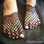 Фото Мехенди на ступне (рисунки хной) от 08.09.2018 №074 - Mehendi foot - tatufoto.com